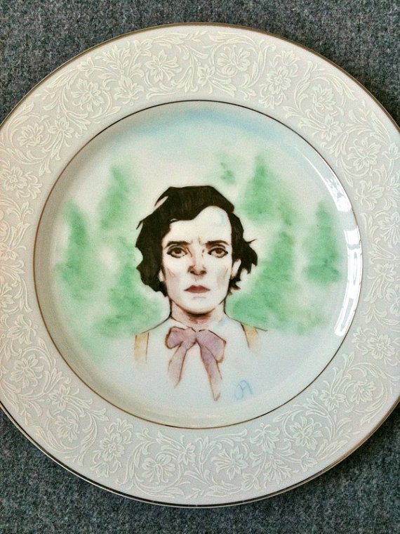A Buster Keaton plate handpainted by Julie Alberti I have in my collection