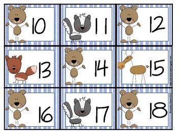 Forest Animal Calendar Numbers Calendar Numbers Forest Animals Kids Calendar