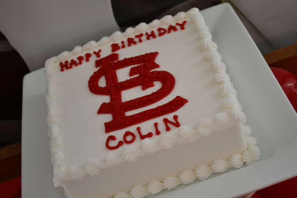 St Louis Cardinals Baseball Birthday Party Ideas