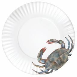 washable melamine paper plates w blue crab 11 roots home sea