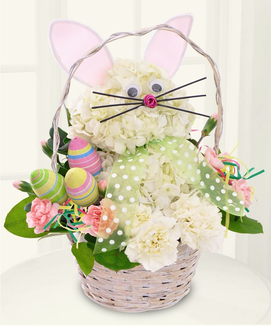 Bunny Basket A Unique Fl Design This Fun Easter Arrangement Is The Perfect Gift For Young And At Heart