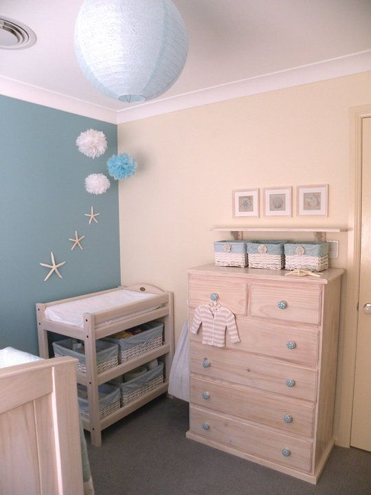 Gorgeous Beachy Nursery Love My Next Baby S Room Will Look Like This Either Pink Or Blue It S