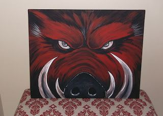 The Seam Rippers For The Other One Razorback Canvas Razorback Painting Canvas Painting