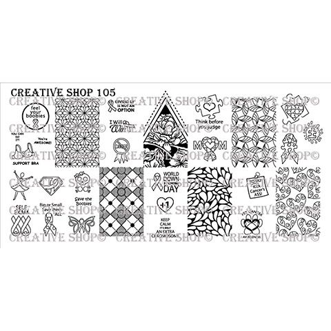 Creative Shop- Stamping Plate- 105