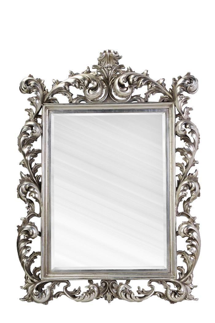 Large Silver Rococo Mirror Silver Home Accessories Mirror Baroque Mirror