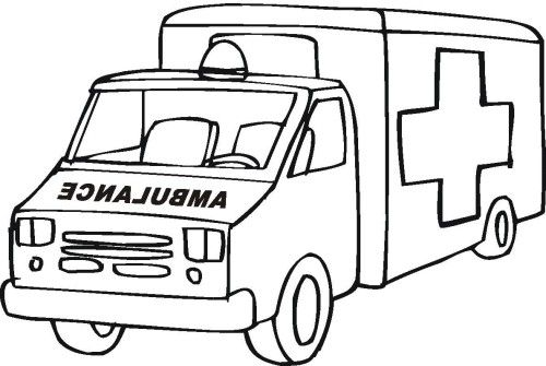 Ambulance Truck Coloring For Kids Cars Coloring Pages Ambulance Preschool Coloring Pages