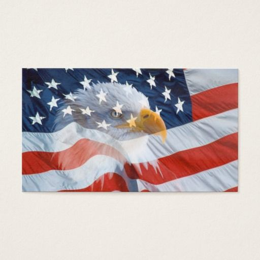 Bald eagle on the american flag business card bald eagle business bald eagle on the american flag business card colourmoves