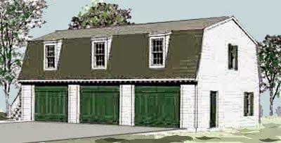 Exceptional Gambrel Garage Plans 8 3 Car Garage With Gambrel Roof Plans Garage Plans Garage Plans With Loft Gambrel Roof