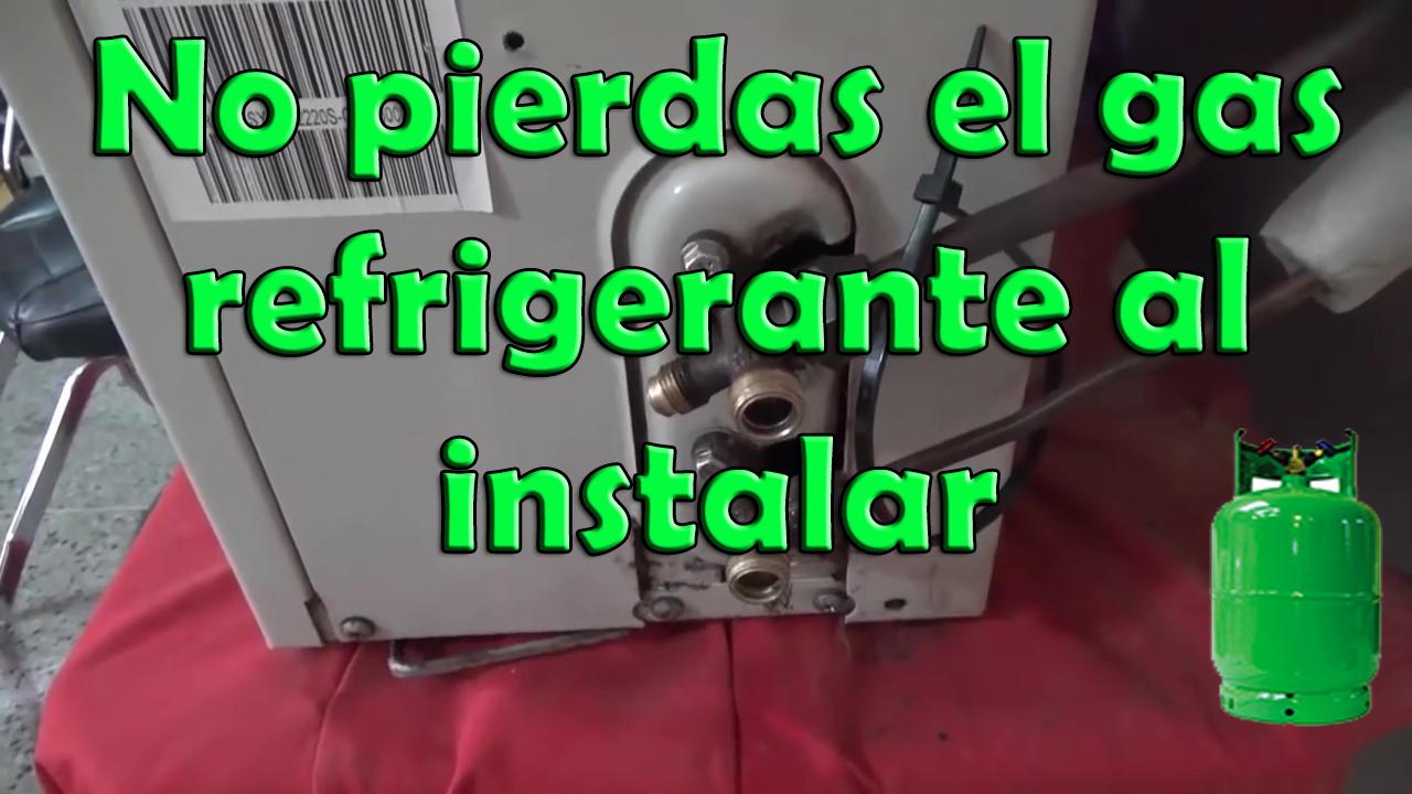No pierdas el gas refrigerante al instalar un aire