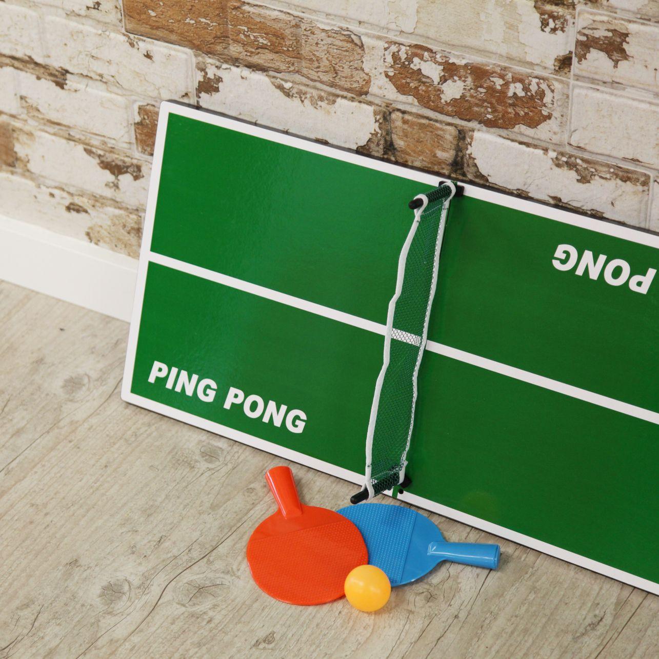 Mesa De Ping Pong De Sobremesa De Tamano Reducido Para Dos Personas