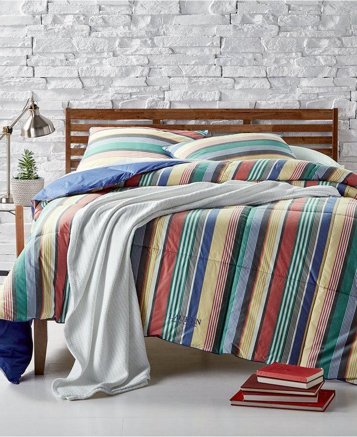 Lauren Ralph Lauren Cameron Reversible Yarn Dyed Stripe King Down