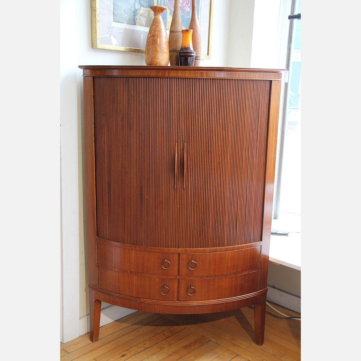 Fab Com Teak Corner Cabinet 2 498 Danish Furniture Design