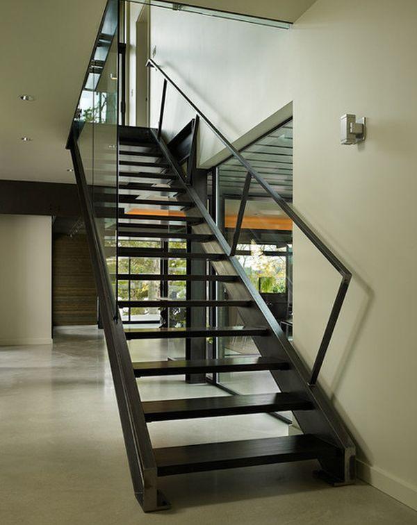 10 Steel Staircase Designs Sleek Durable And Strong Staircase | Modern Steel Staircase Design | Small House | Beautiful | Handrail | Solid Steel | Gallery