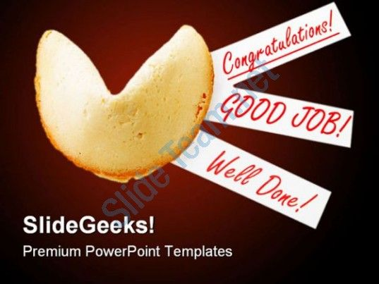 Congratulation Cookies Business PowerPoint Backgrounds And - congratulation templates