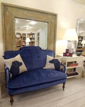 Antique blue home decor