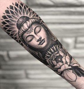 Full Sleeve And Half Sleeve Tattoo Ideas For Women Sleevetattoos Women Tattoos Buddha Tattoo Sleeve Buddhist Tattoo Buddha Tattoo