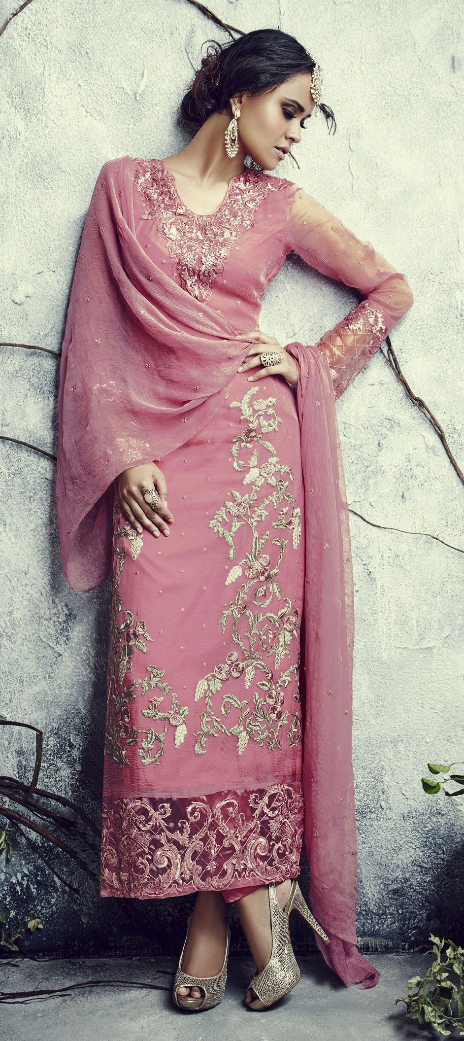 52f5fc48c9 441191: Pink and Majenta color family stitched Party Wear Salwar Kameez .