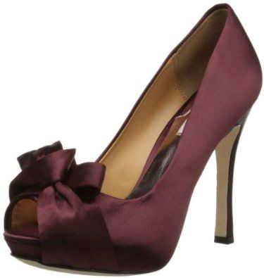 cfcdbe07079 New wedding shoe contender  Wine colored pumps by Badley Mischka ...