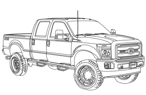 Ford Coloring Pages | Truck coloring pages, Cars coloring ...