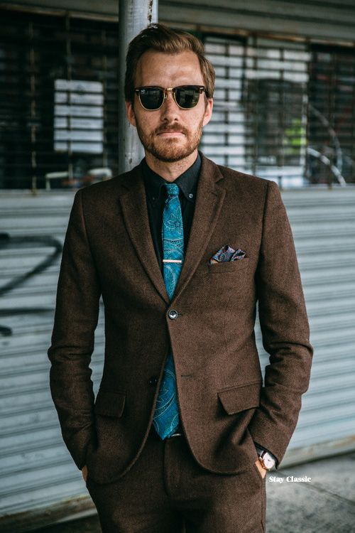 Brown suit/ blue shirt combination is a winner/ Francisco | For ...