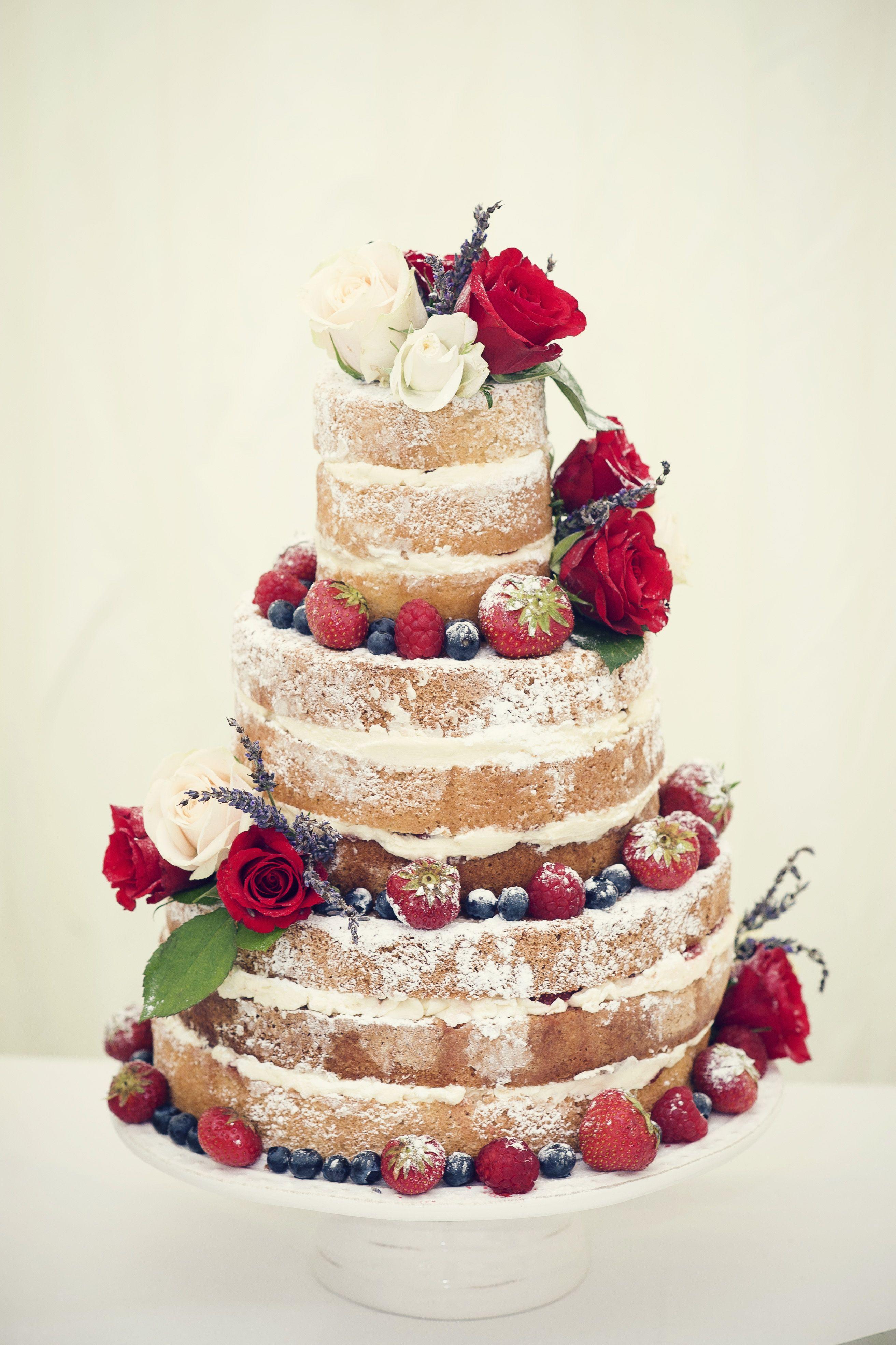 Cake by http://www.frenchmade.co.uk #rustic #cake #vintage #nakedcake #vanillasponge #weddingcake