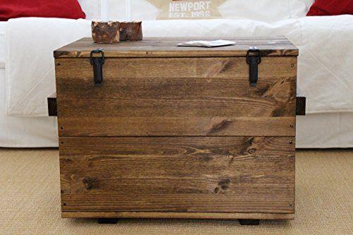 Holzkiste Truhe Couchtisch Beistelltisch Vintage shabby chic - couchtische massivholz rotsen