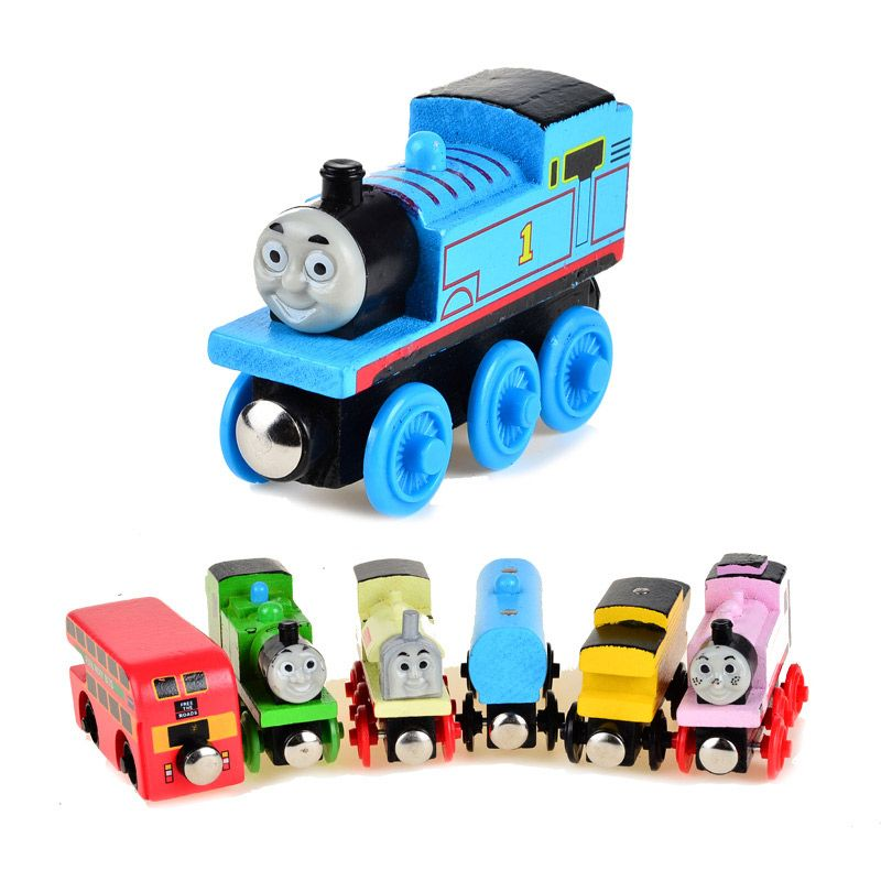 BOHS Wooden Magnetic Thomas Circus Train Donald Lady Gordon Friends Lorry Track Railway Vehicles Diecast Toy