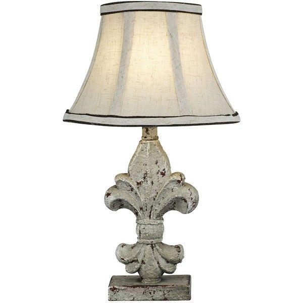 Fleur De Lis Off White Accent Table Lamp White Accent Table Table Lamp Lamp Fleur de lis table lamps