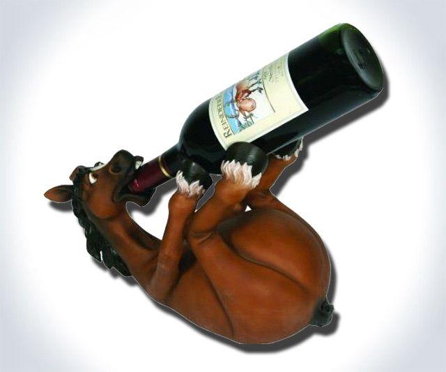 S**tfaced Horse Wine Bottle Holder