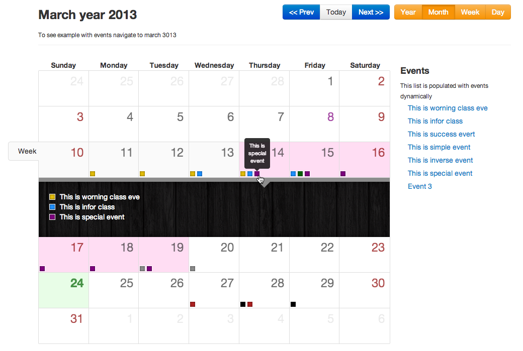 Bootstrap full calendar   RWG   Intranet Technical Resources   Html