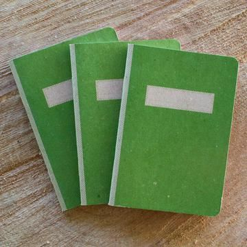 felt composition books. could you make them out of astroturf?