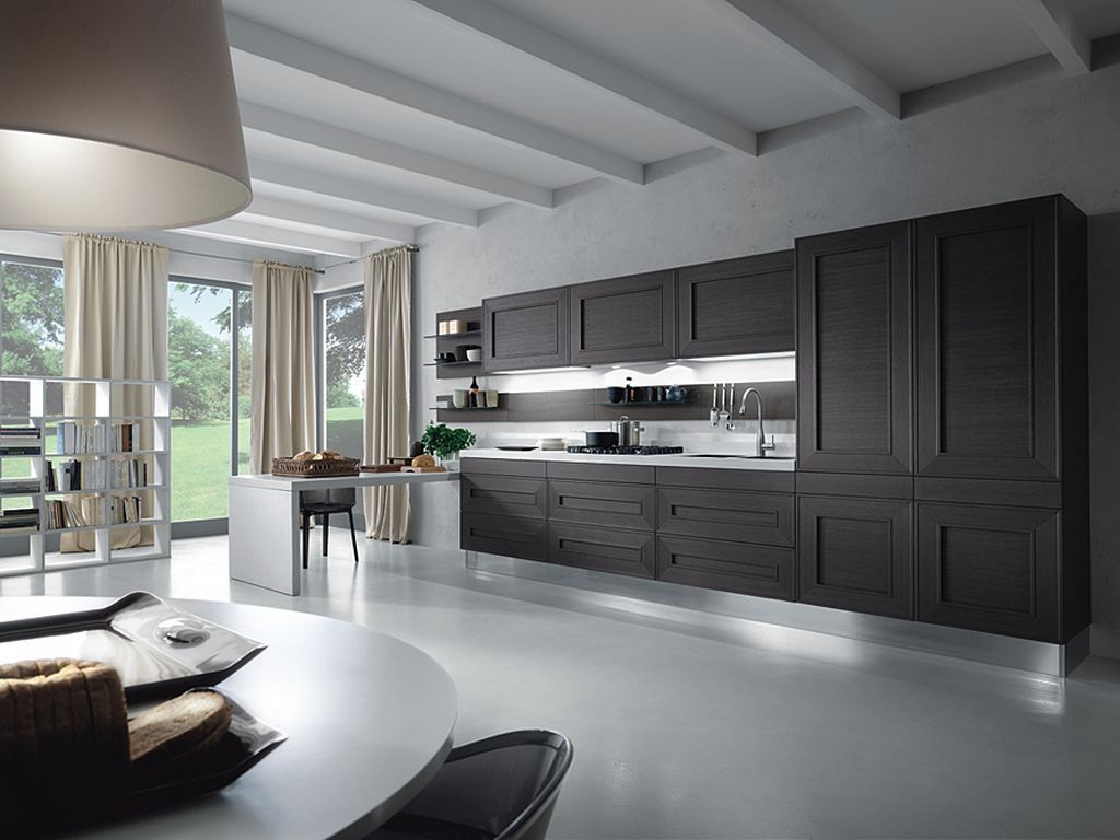 In modern kitchen design, there are so many beautiful kitchens setting that involve grey kitchen cabinets in their set. Well, yes grey color has been associated with future and modern design for long time, but despite that fact, grey color is something that can become such a beautiful color element for any design.
