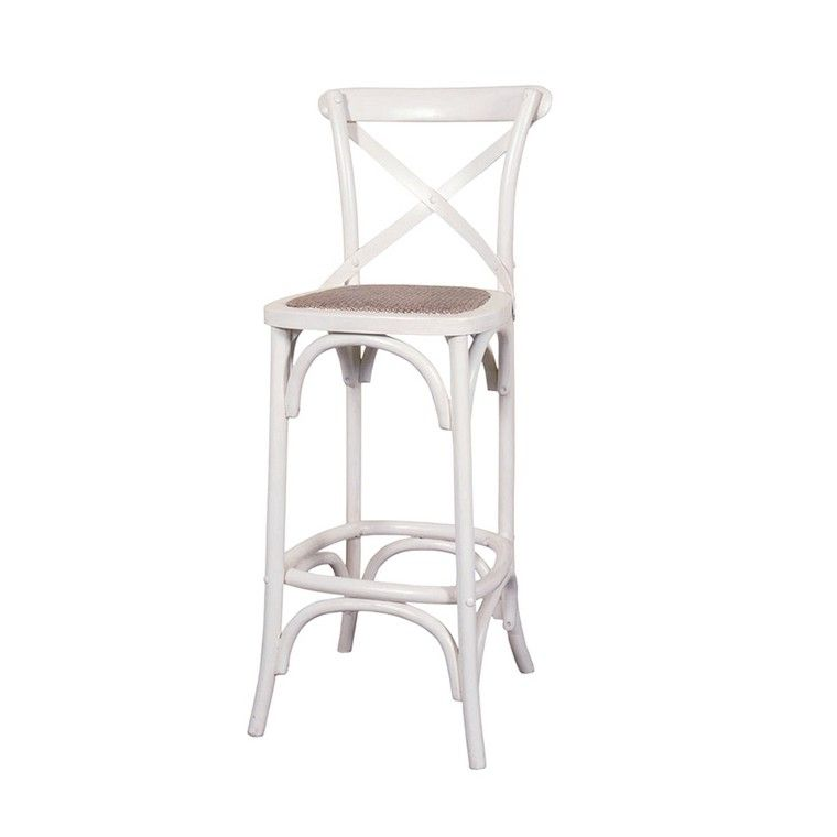 French Provincial Cross Back Stools 4 Colours Available Bar