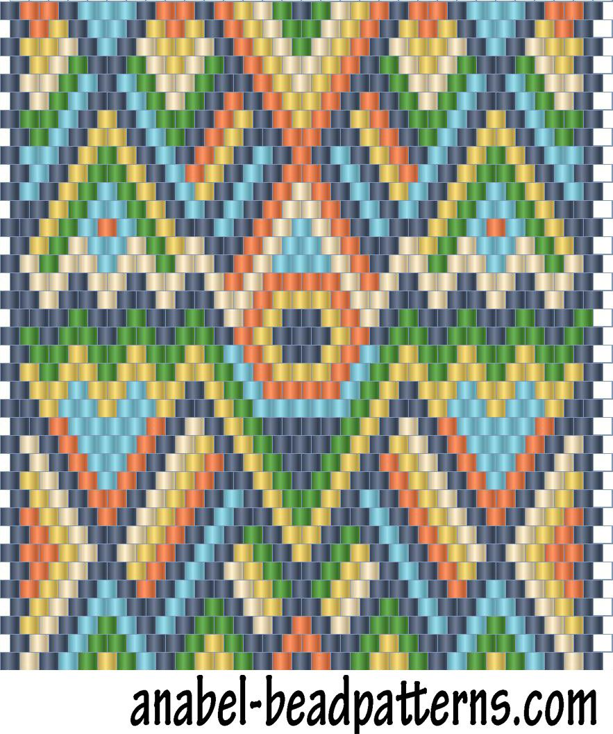 Scheme bright pendant bead - weaving mosaic | - Plans for beading ...