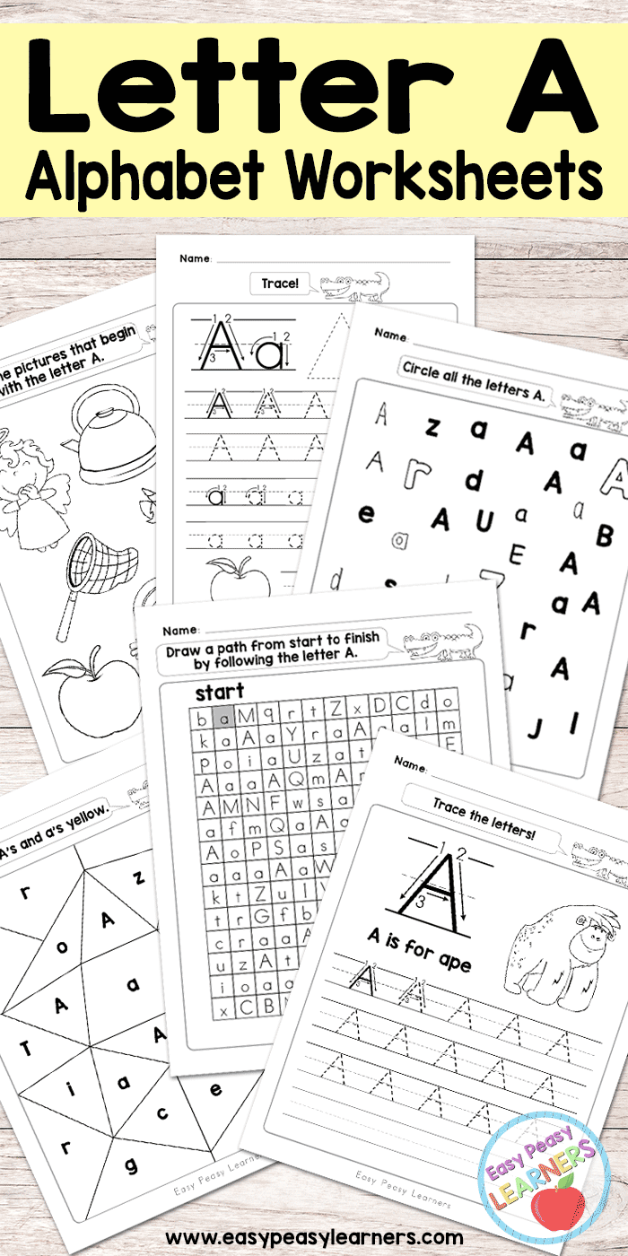 Free Printable Letter A Worksheets - Alphabet Worksheets Series ...
