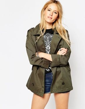 ASOS Shacket with Military Detail