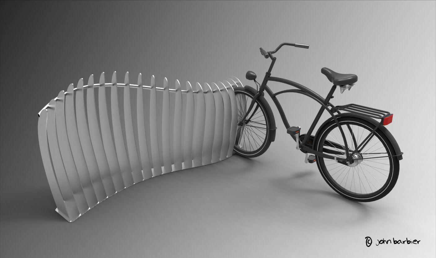 Car Sketch Bicicletario Mobiliario Urbano Bicicleta