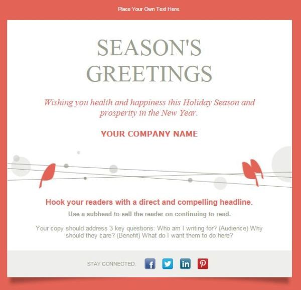 Holiday Email Karlapaponderresearchco