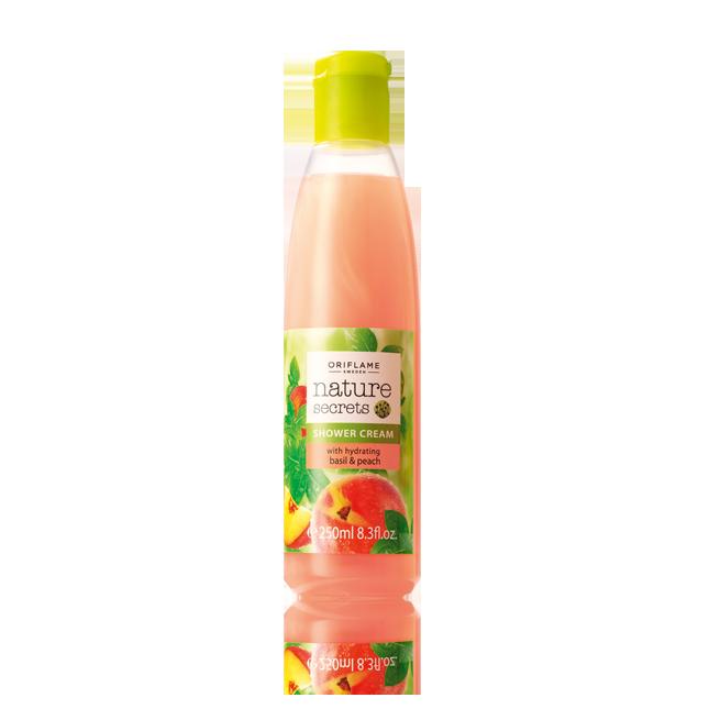Creme de Duche com Manjericão e Pêssego Hidratantes Nature Secrets #oriflame