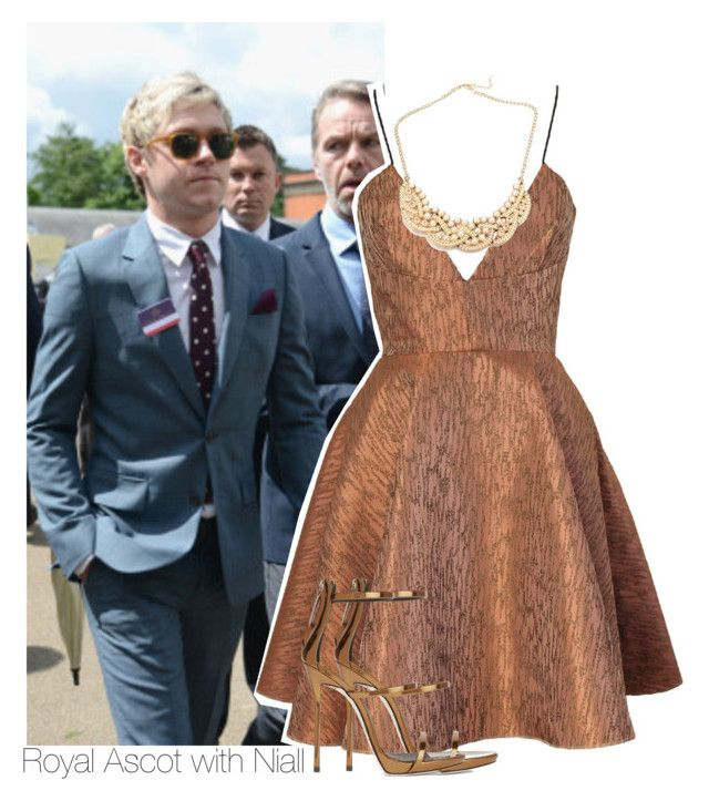 """""""Royal Ascot with Niall"""" by chocapiick ❤ liked on Polyvore featuring Joana Almagro, Giuseppe Zanotti, OneDirection, NiallHoran, onedirectionoutfits and royalascot"""