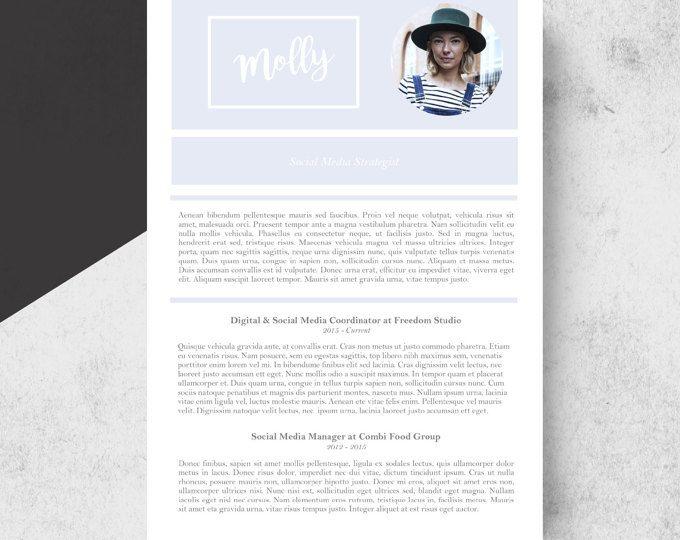 Resume Template, 3page CV Template + Bonus Cover Letter MS - social media manager cover letter