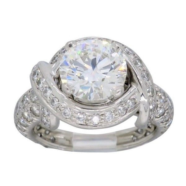 32d1eb48a ($29,500) ❤ liked on Polyvore featuring jewelry, rings, pre owned jewelry, engagement  rings, platinum rings, platinum engagement rings and diamond rings