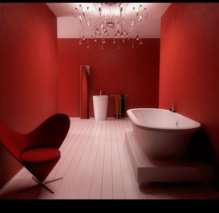 Salle de bain rouge  la couleur de la passion Rouge - salle de bain rouge et beige