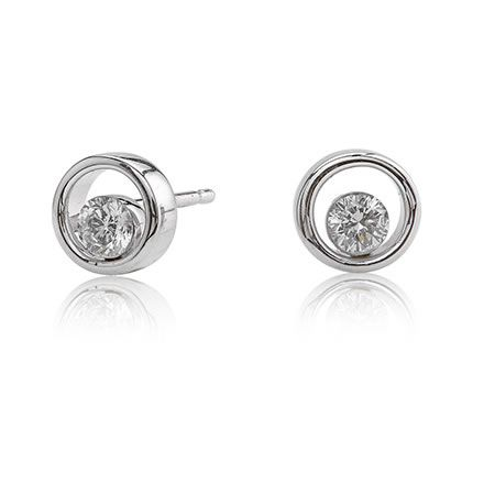 Canadian Ice 1 5ct Floating Diamond Earrings In 10k