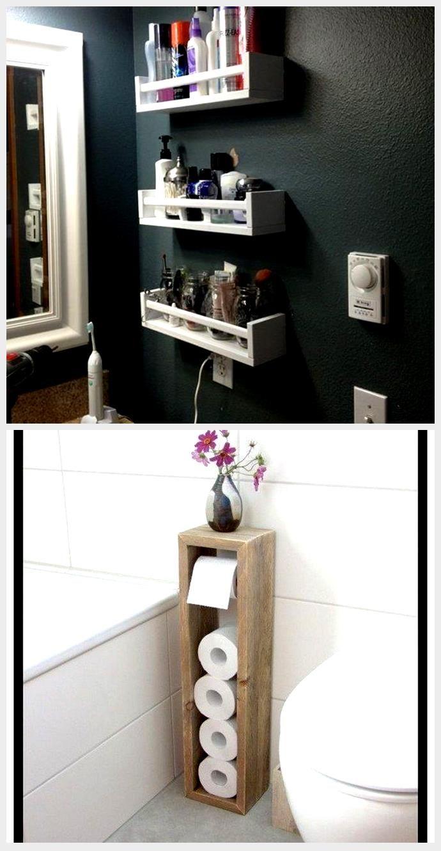 16 DIY-Extra-Aufbewahrungsartikel für kleine Badezimmer - Dekorationen gram,  #Badezimmer #Dekorationen #DIYExtraAufbewahrungsartikel #für #gram #kleine