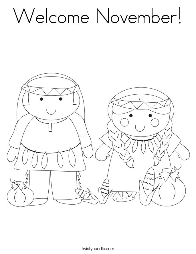 Welcome November Coloring Page Twisty Noodle Thanksgiving Coloring Pages Coloring Pages Welcome November