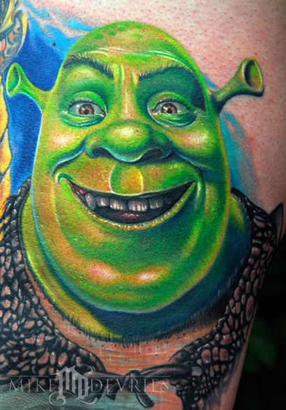 Mike Devries Tattoos Movie Shrek Tattoo Disney Tattoos Movie Tattoos Shrek