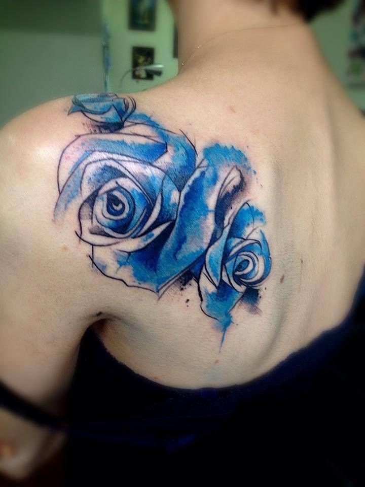 tatouage roses bleues | tattoo | pinterest | tatouage, tatouage rose