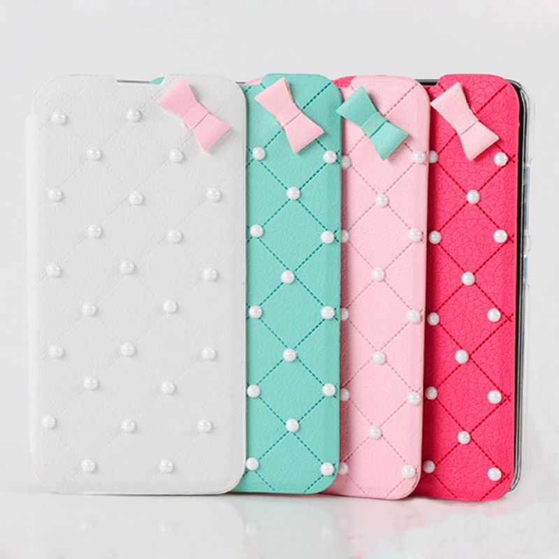 Pearl bow case for Samsung note 4