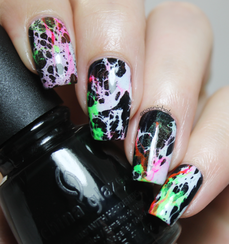 Science Nail Designs: Radical Alcohol Marble